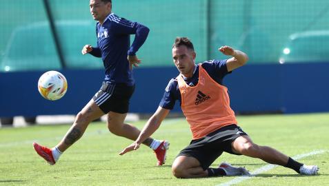 Unai García, en un entrenamiento