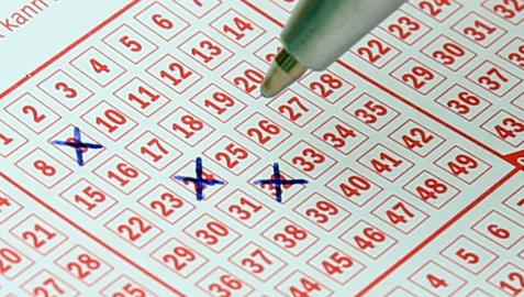 Imagen de archivo de un boleto de lotería