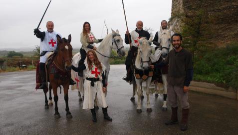 Un grupo de caballistas que participaron ayer en la jornada de Ribaforada