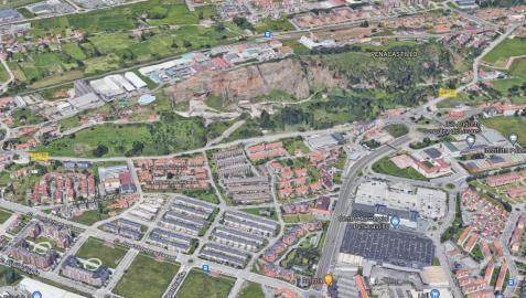 Vista aérea de la zona de Peñacastillo-Santander