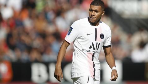 Kylian Mbappe, durante el partido ante el Stade Rennes