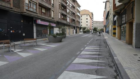 Calle Manuel de Falla en la Milagrosa, una de las vías en las que se actuará