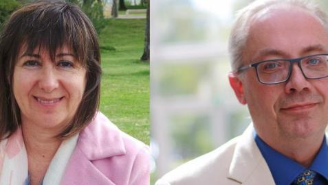 La filósofa española Ana de Miguel y el físico sueco Tomas Brage