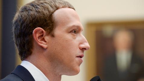Mark Zuckerberg, durante una comparecencia judicial en Washington