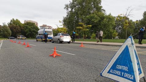 Control de alcohol y drogas de la Policía Municipal en Pamplona
