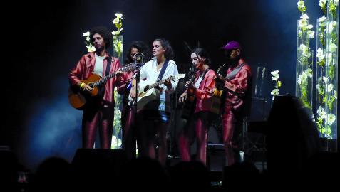 La cantante pamplonesa Amaia Montero, durante el concierto que ofreció en agosto en la Ciudadela