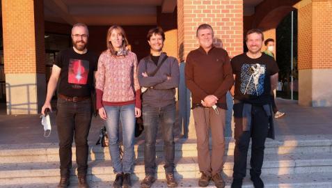 Los participantes navarros en la observación: Juanjo Iturregui, Birginia Hernandorena, Iñaki Ordóñez, Josep M. Bosch y Roberto García