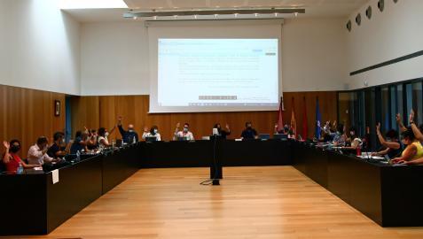 Vista del pleno del Ayuntamiento el Valle de Egüés en una sesión celebrada en septiembre