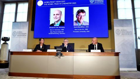 La Academia Sueca de Ciencias en Estocolmo ha anunciado este miércoles el Nobel de Química