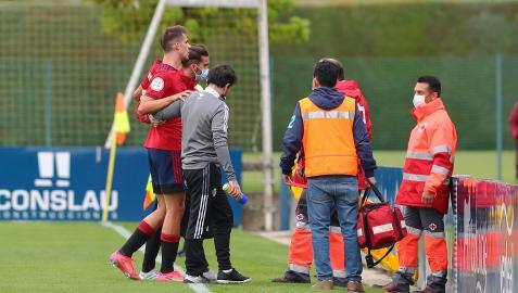 Momento de la lesión de Ander Yoldi