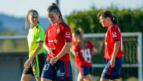 Amancay Urbani, contrariada durante el partido de este miércoles