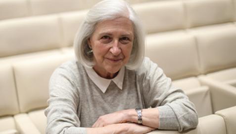 Teresa Catalán, en el Auditorio de Civican