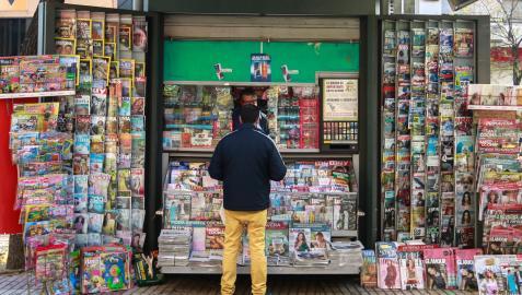 Quiosco de prensa en Sevilla