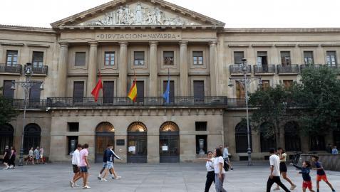 Sede del Gobierno de Navarra, en la Avenida Carlos III de Pamplona