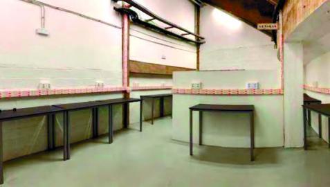 Sala para la prensa gráfica, durante la reforma