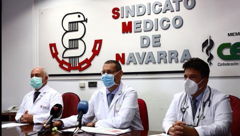 Rueda de prensa del Sindicato Médico de Navarra