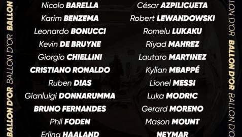 Los 30 nominados al Balón de Oro.