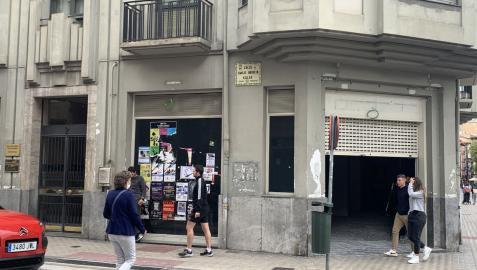 El local de la calle Arrieta, en obras, donde se va a instalar Decathlon