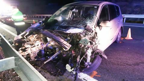 Estado de uno de los vehículos implicado en la colisión