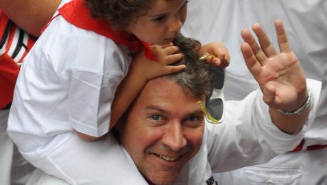 Christoph Carnol con su hija Magie Carnol Orte