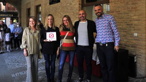 De izquierda a derecha, Verónica Rodero, Ana Guembe, Itziar Ituño, Adur Ezenarro y Oihan Mendo.