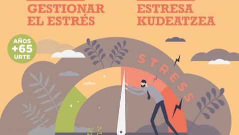 Cartel del taller sobre estrés organizado por el Ayuntamiento de Pamplona