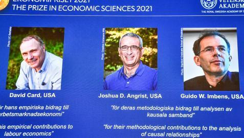 David Card, Joshua D. Angrist y Guido W. Imbens, premios Nobel de Economía
