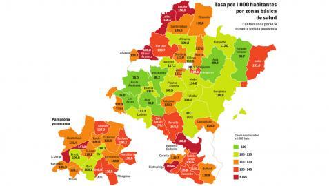 Tasa por 1.000 habitantes por zonas básicas de salud