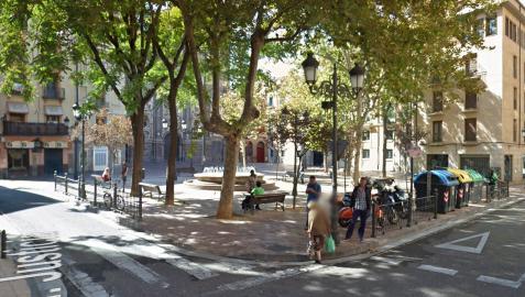 Plaza del Justicia de Zaragoza donde se produjeron los incidentes
