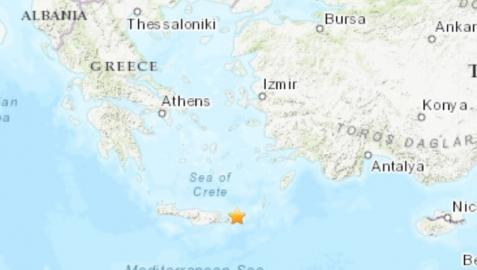 Terremoto de magnitud 6,3 frente a las costas de la isla de Creta, en Grecia