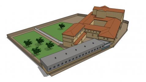 La imagen de Estudio 10 recrea el nuevo edificio  que se construirá junto a la parte del convento que también se cede