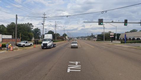 Avenida East Lamar de Memphis, donde se produjo el tiroteo