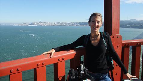 Ainara Garde Martínez, en San Francisco, California