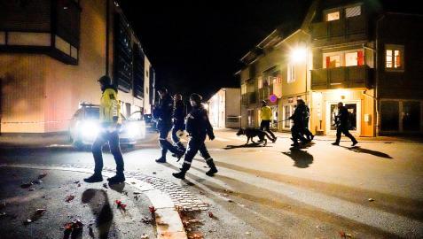 Despliegue policial en la localidad noruega de Kongsberg