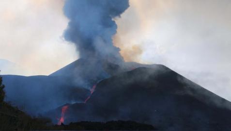 Imagen del volcán de La Palma tras 24 días de erupción