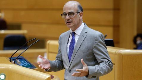 El senador navarro de UPN, Alberto Catalán, durante una intervención en el Senado