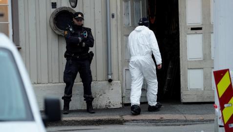 Investigación policial en Kongsberg