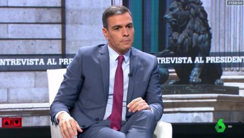Pedro Sánchez, en un momento de su entrevista en La Sexta